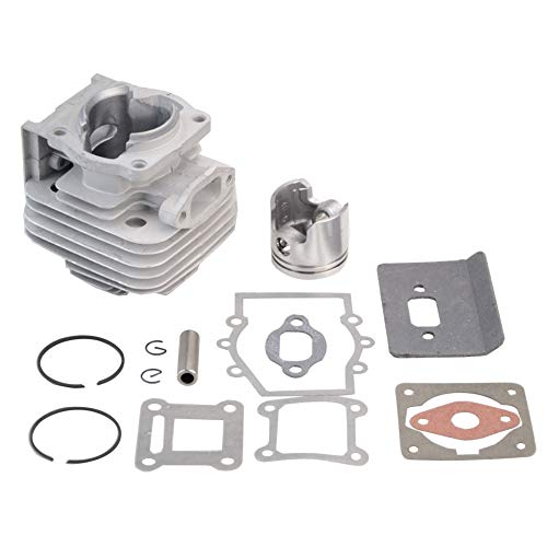 Pocket Bike Piston - GOOFIT 40mm Bore Complete Cylinder Kit with Piston for 2 Stroke 43cc Gas Scooter Pocket Bike Mini