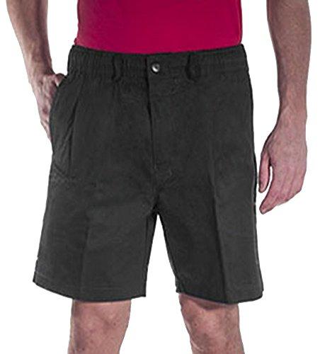 Creekwood Elastic Waist Twill Shorts for Big & Tall Men – 46 – Charcoal by Creekwood