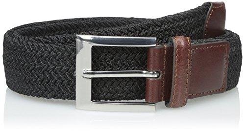 PGA TOUR Men's Fully Elastic Braided Belt, Black, 44