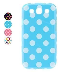 HOR Puntos con estilo Patrón Soft Case para Samsung I9300 Galaxy S3 (colores surtidos) , Blanco