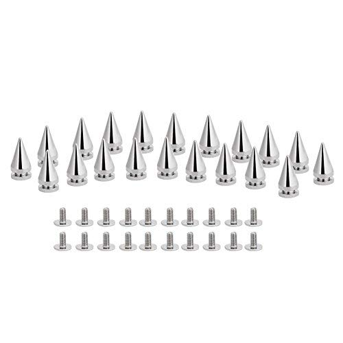 20 Pcs Silver Metal Bullet Studs Spikes Rivets with Screw Back for Leathercraft Rivet Bullet Leather Clothing Punk DIY Leather Crafts