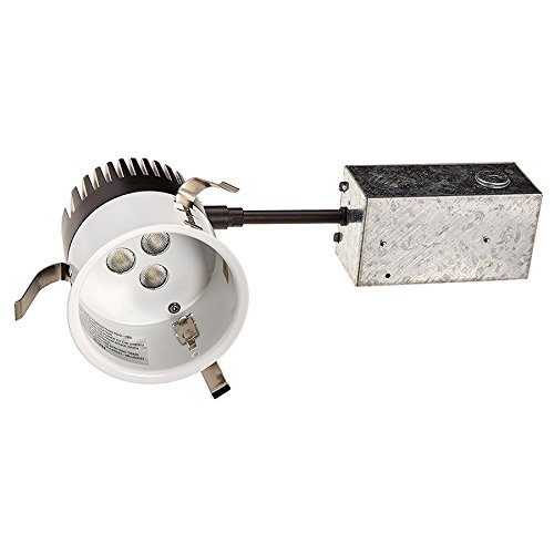 WAC Lighting HR-LED309-R-40 3in LEDme Non-IC Rated Remodel Housing with Light Engine in 4000K Aluminum