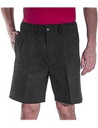 Elastic Waist Twill Shorts for Big & Tall Men – 100% Pure Cotton