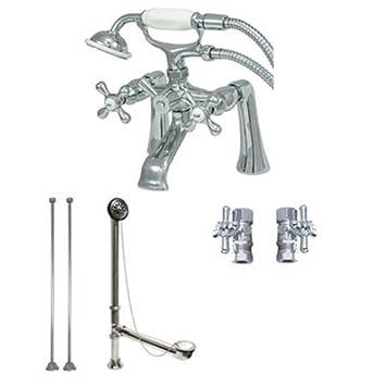 Clawfoot Tub Faucet With Hand Shower W/drain U0026 Supplies