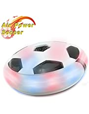 PUZ Toy Hover Soccer Air Power Football Foam Bumpers Kids Football Games Colorful LED Lights