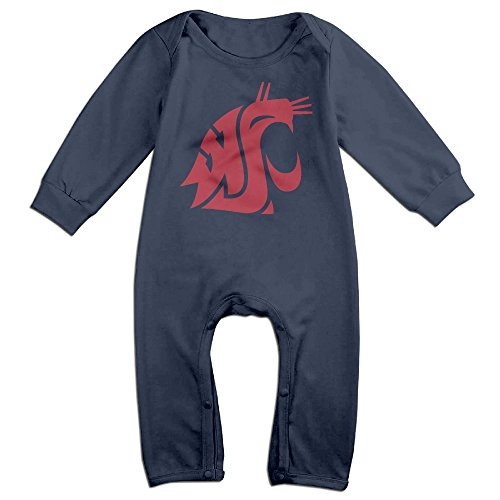 Price comparison product image OOKOO Baby's Washington State University Cougars Bodysuits Outfits Navy 18 Months