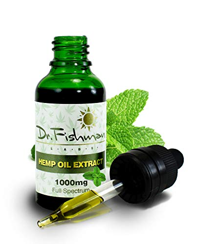 Hemp Oil Extract 1000mg - by Dr. Fishman Labs - Anxiety, Stress, Depression Relief, Pain Management - Rich in Omega 3,6,9 Vitamin A & E - 30ml, 1 fl oz - Peppermint Flavor …