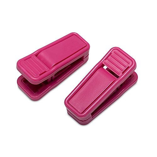 house-day-hot-pink-plastic-finger-clips-for-hangers-20-pack-pants-hanger-clips-strong-pinch-grip-cli