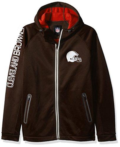 G-III Sports by Carl Banks Adult Men Motion Full Zip Hooded Jacket, Brown, - Licensed Jacket Zip Full