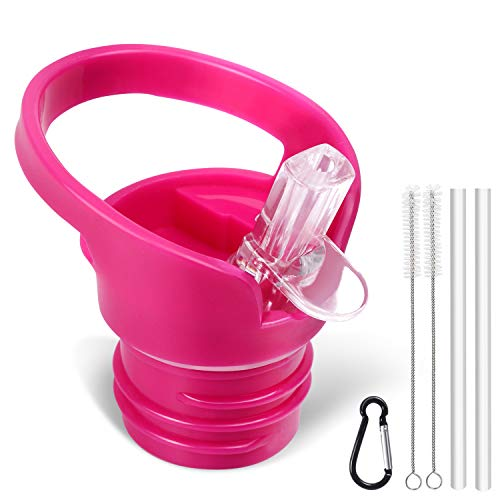 (Standard Size Straw Lid for Hydro Flask Standard Size Bottle & Simple Modern Narrow Bottle.(Pink))