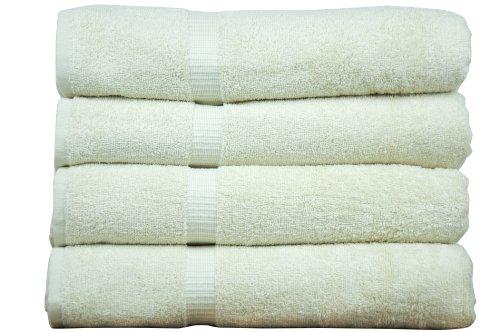 Chakir Turkish Linens Turkish Cotton Luxury Hotel & Spa Bath Towel, Bath Towel – Set of 4, Beige