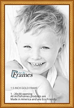 Amazoncom Arttoframes 20x30 Inch Gold Speckeled Wood Picture