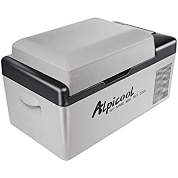 Alpicool C20 Portable Refrigerator 21 Quart(20 Liter) Vehicle, Car, Truck, RV, Boat, Mini fridge freezer for Driving, Travel, Fishing, Outdoor and Home use -12/24V DC and 110-240 AC