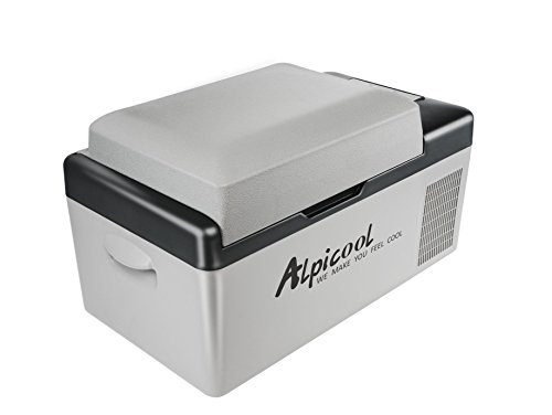Alpicool C20 Portable Refrigerator 21 Quart(20 Liter) Vehicle, Car, Truck, RV, Boat, Mini fridge freezer for Driving, Travel, Fishing, Outdoor and Home use -12/24V DC and 110-240 AC (24 Refrigerator Bottom Freezer)