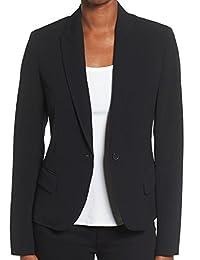 Anne Klein Womens One-Button Jacket (Black, 10)