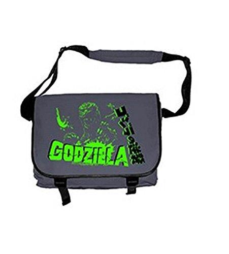 Plan 9 Godzilla Raid Official Grey Messenger Bag