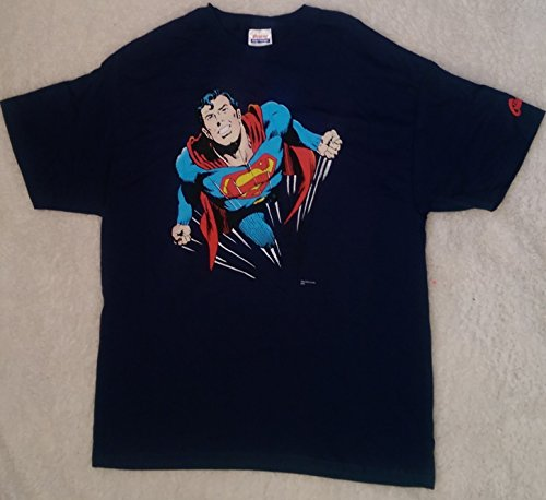 Superman Flying Blue T-Shirt Adult Extra Large Graphitti