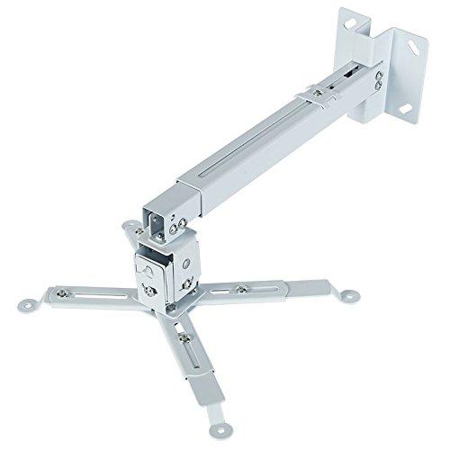 430 cm, 650 cm, 33 cm, 65 cm, -15-15/°, -22,5-22,5/° iggual STP02-S Support pour projecteurs Mur//Plafond Blanc Supports pour projecteurs
