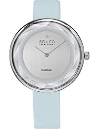 SO & CO New York 5233.1 Women's SoHo Casual Analog Watch with Silver Dial and Blue Band