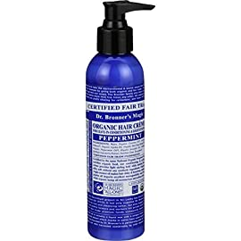 Dr. Bronner's - Organic Hair Crème (Peppermint, 6 Ounce, 2-Pack) - Leave-In Conditioner and Styling Cream, Made with Organic Oils, Hair Cream Supports Shine and Strength, Nourishes Scalp, Non-GMO 7 <p>Dr. Bronner's Organic Hair Crèmes provide light styling hold, make hair silky soft—without any synthetic ingredients! No parabens, sulfates, or polyethylene glycols—none! Organic coconut oil gives hair shine and strength, organic jojoba oil imparts manageability and feel, and organic hemp oil moisturizes and softens hair. Use as part of an organic hair care routine, together with our Organic Sugar Soaps and Organic Hair Rinse. Add styling and smoothness to your hair with one of our Organic Hair Crèmes. Start with a small amount of hair cream in your hand and comb gently through hair & with a focus on the ends. Use this leave-in conditioner and styling cream after showering for a sleeker look. Apply as much as you need to make your hair moisturized-smooth, with a lightly-styled look. All-One! USDA ORGANIC & FAIR TRADE INGREDIENTS ONLY: Our Organic Hair Crèmes are formulated with organic oils to create shine & strength. Organic jojoba oil imparts manageability & feel while organic hemp oil moisturizes & softens hair. NO PARABENS OR SYNTHETIC INGREDIENTS: Dr. Bronner's Organic Hair Crèmes provide light styling hold & make hair silky soft-all without any synthetic ingredients! OK! RECOMMENDED FOR WET OR DRY HAIR: Add styling & smoothness to your hair! Start with a small amount in your hand & comb through hair-focus on the ends. Apply as much as you need to make your hair moisturized-smooth, with a lightly-styled look. OUR STYLING CREAM IS CRUELTY-FREE & NEVER TESTED ON ANIMALS: Dr. Bronner's products & ingredients are never tested on animals so they qualify for the Leaping Bunny logo. Finally, hair products you can totally get behind! CERTIFIED UNDER THE NATIONAL ORGANIC PROGRAM: Our products are certified under the same program that certifies all organically-produced agriculture & food in the United States. This is important because what you put on your body goes into your body.</p>