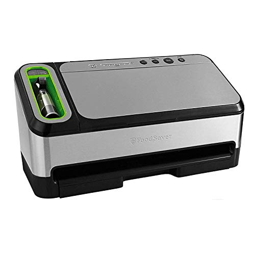 (FoodSaver V4840 2-in-1 Vacuum Sealer Machine with Automatic Bag Detection and Starter Kit | Safety Certified | Silver)
