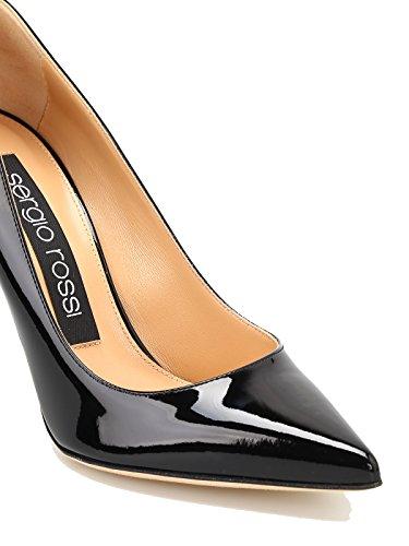 Vernis A43843MVIV011000110 Escarpins Noir Cuir Rossi Femme Sergio wOPqXA7