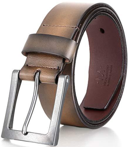 Marino Avenue Men's Classic Genuine Leather Jean Belt, 1.5