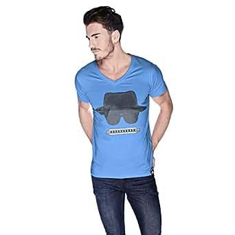 Creo Beach Hat In Glasses T-Shirt For Men - M, Blue