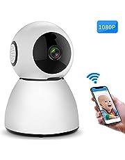 Zeetopin WLAN Kamera IP Überwachungskamera 1080P mit Nachtsicht, 2 Wege Audio, Fernalarm, Bewegungserkennung, Mobile App Kontrolle als Baby/Haustier-Monitor, unterstützen Sie Onvif