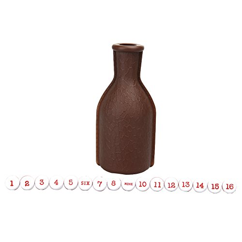 Plastic Tally Bottle (TTnight 1Pc Plastic Billiard Kelly Pool Shaker Bottle with 16 Numbered Tally Balls Peas (Dark Brown))