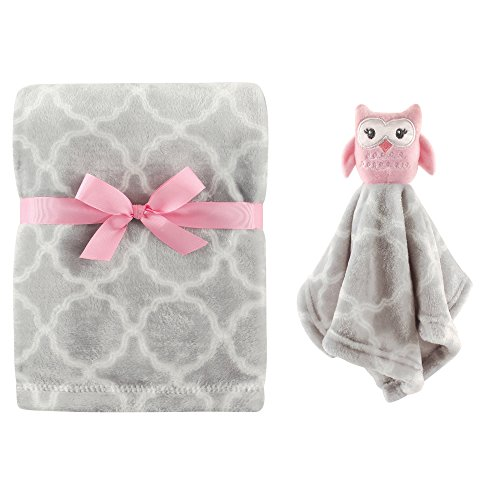 Hudson Baby Plush Blanket and Security Blanket Set, Girl Owl ()