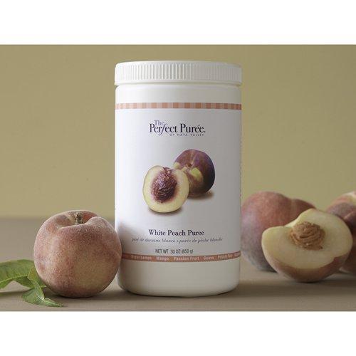 White Peach Puree Frozen - 6 x 30 Oz Case by Perfect Puree (Image #1)