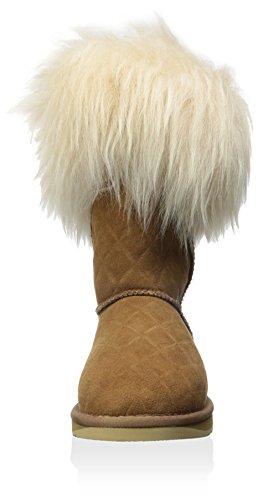 Australia Colectiva Mujer Foxy Shearling Corto Acolchado Bota Castaño Edredón