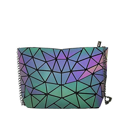 JIASD Geometric CrossBody Messenger Bag Shoulder Bag Evening Hangbag Purse With Metallic Strap (M1