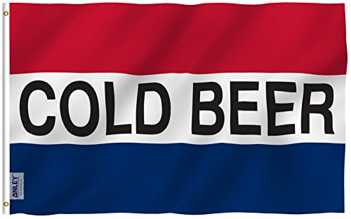 Anley Fly Breeze 3x5 Foot Cold Beer Flag - Vivid Color and U