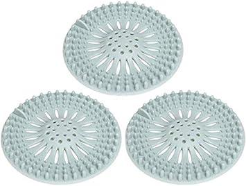 Silikon-Haarstopper Abflusssieb f/ür Badewanne K/üche XQMY Silikon-Filter Duschablauf Haarf/änger Badezimmer rose