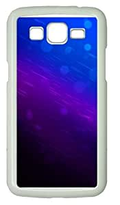 Blue background PC Case Cover for Samsung Grand 2 and Samsung Grand 7106 White