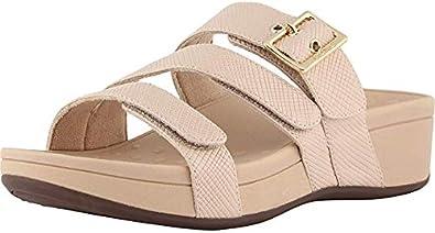 Ladies Adjustable Slide Sandal with