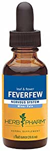 Herb Pharm Certified Organic Feverfew Extract for Minor Pain Support - 1 Ounce