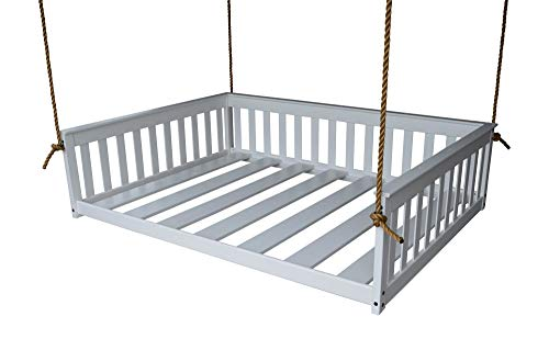 DutchCrafters Amish Mission Hanging Daybed (Paint - White, Full Bed) ()