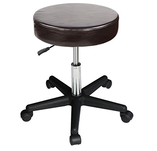 Master Massage Pneumatic/Hydraulic/Beauty/Swivel/Tattoo/Nanoskin Upholstery in Luster Stool, Coffee