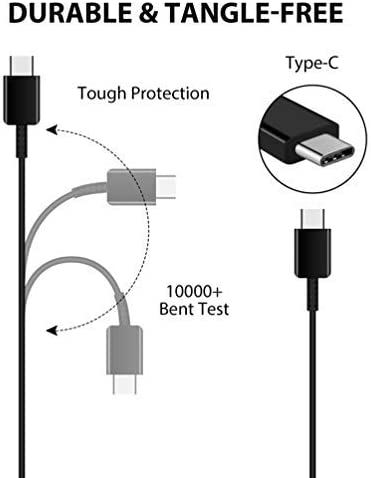 Genuine Charging 1A Wall Kit Upgrade Works with Sony WF-1000XM3 as a Replacement Plus Detachable Hi-Power USB-C 2.0 Data Sync Cable! White 110-240v