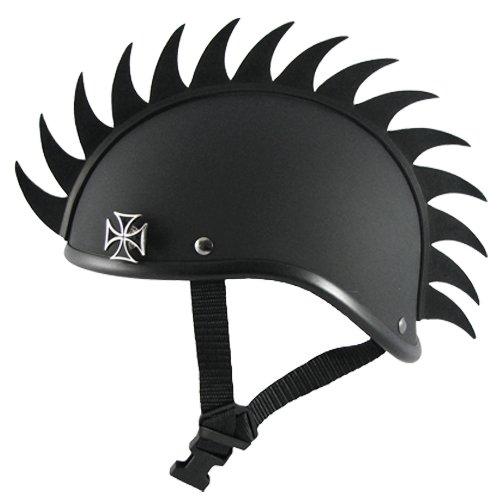 Voss Gladiator Motorcycle Helmet w/ Helmet Mohawk (Large)