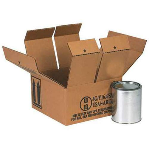 (4) 1 Quart Haz Mat Boxes, 9-7/16