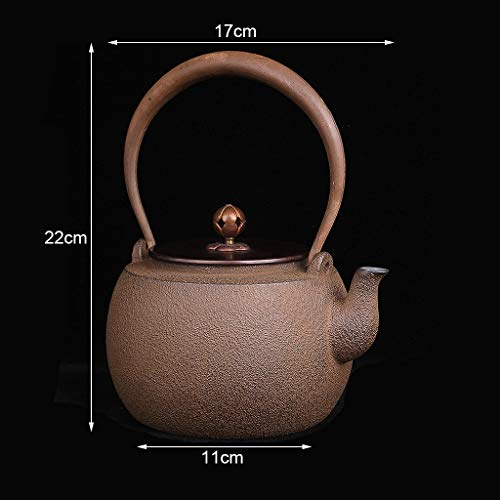 Vintage Teapot 1.3 Liter, Cast Iron Teapot with Infuser, Handmade Kettle, Safe and Healthy, Suitable for Induction Cooker, Electric Ceramic Stove, Charcoal Stove, Gas, Etc by the teapot company (Image #2)