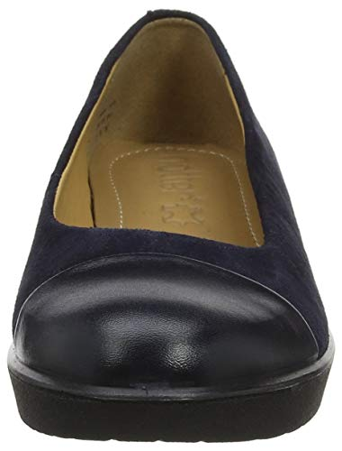 Hotter Women's Angel 030 Blue Ballet Flats Navy Bqq0xrSwng