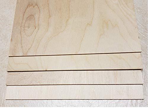 3 mm 1/8'' X 10'' X 10'' Premium Baltic Birch Plywood – B/BB Grade - 8 Flat Sheets by WOODNSHOP