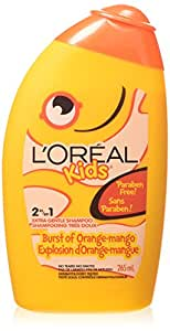 L'Oreal Paris Kids Orange Mango 2 in 1 Extra Gentle Shampoo, 265-Milliliter