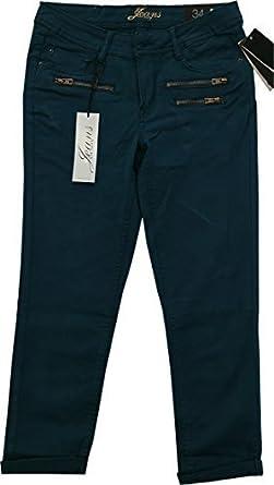 0ccd2b4a71e347 Frauen Orsay Jeans 3/4 Knöchel Länge zugeschnitten Baumwolle Fashion Hose Gr.  UK 12