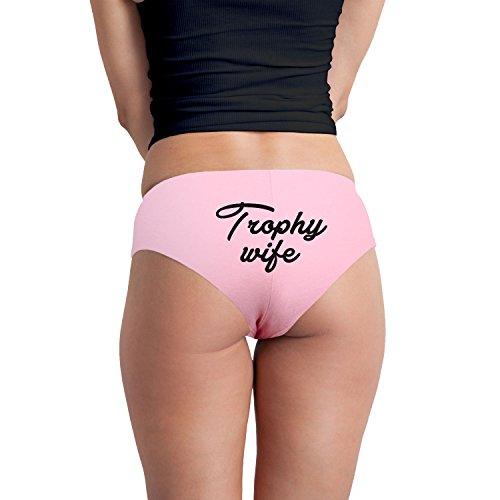 Trophy Wife Funny Women's Boyshort Underwear Panties - Pink Large (Trophy Wife Costumes)